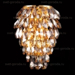 Бра Crystal Lux Charme AP2+2 Led Oro/Ambra